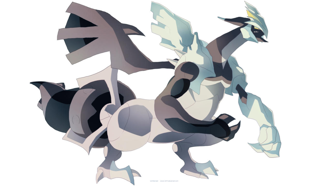 Pokemon black and white 2 black kyurem by moxie2d on - Pokemon kyurem noir ...