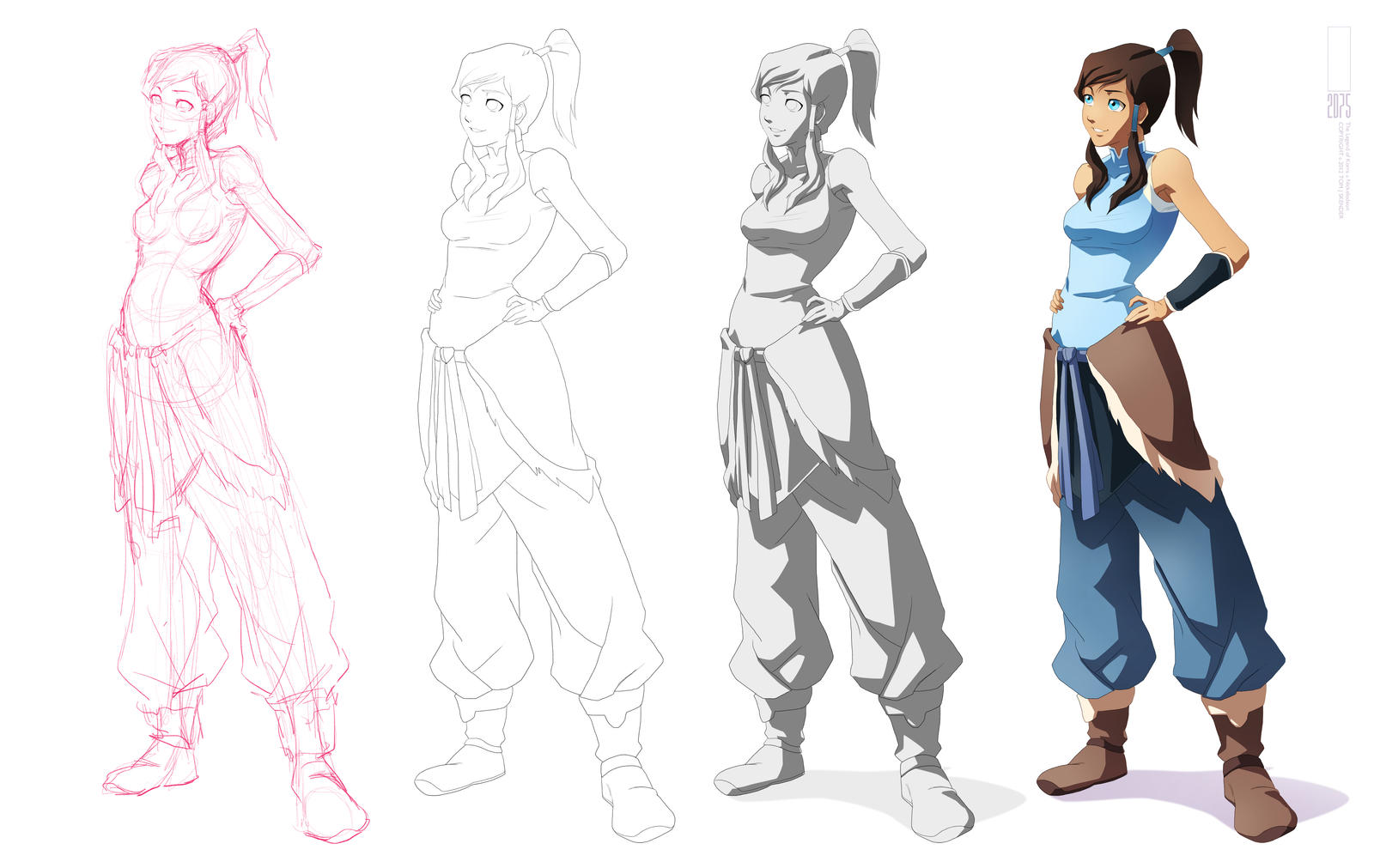 Korra Process + Mini Tutorial by moxie2D