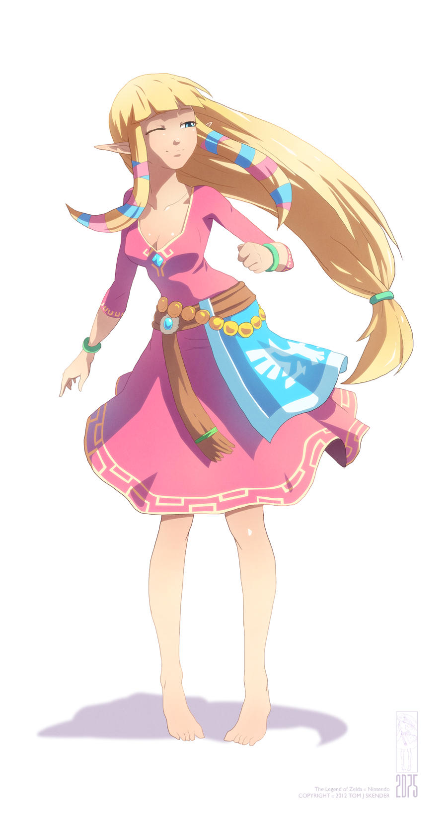 Skyward Sword: Carefree Zelda by moxie2D