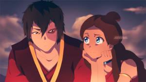 Zuko and Katara Campfire