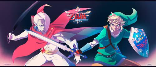 LOZ Skyward Sword: Link VS Ghirahim by moxie2D