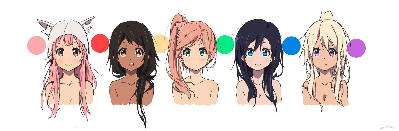 Design Your Anime Character Game : Female characters by moxie d on deviantart