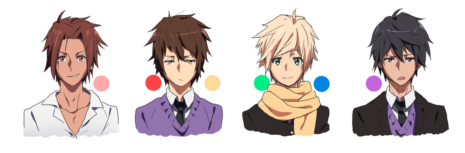 Anime Characters Boy : Male characters by moxie d on deviantart