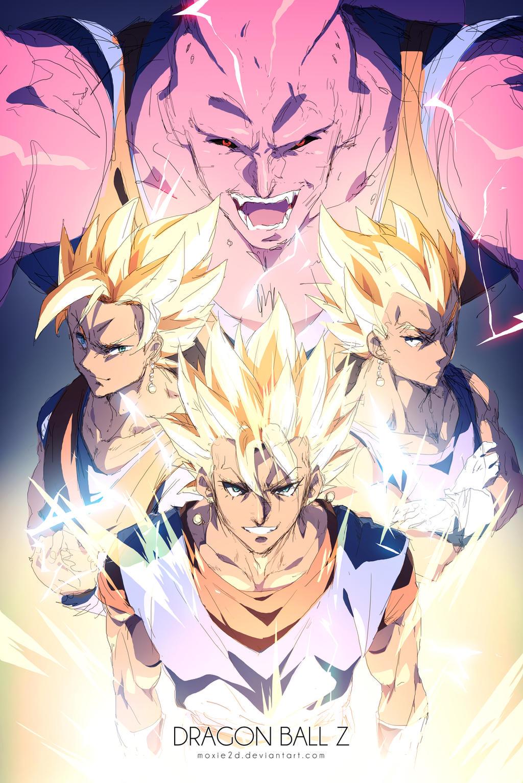 Dragon Ball Z Bilder ssj3 vegito vs super buu Hintergrund