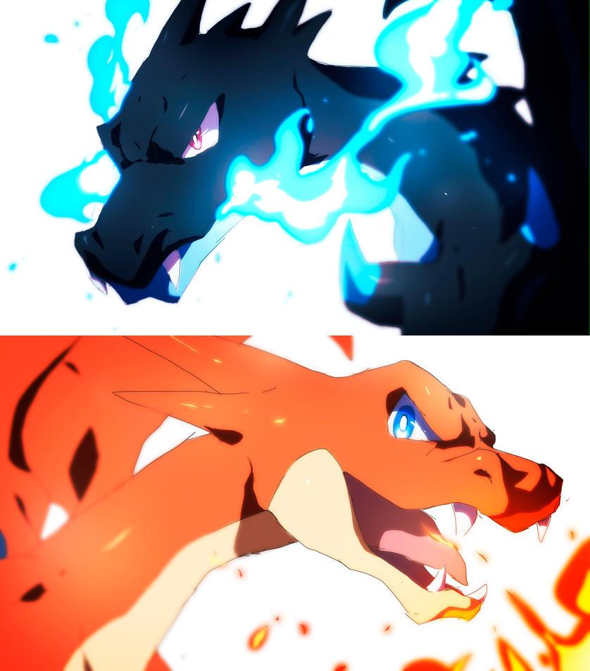 Mega Charizard X Y   Pokemon by moxie2D