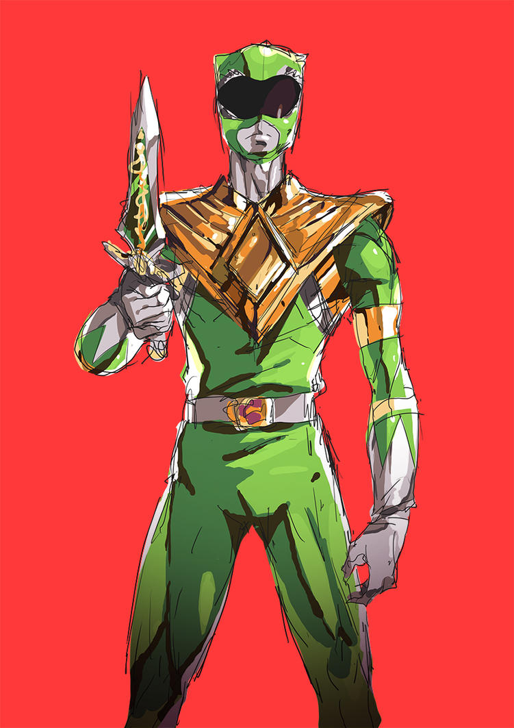 Daily Sketch 15 | Green Ranger by moxie2D