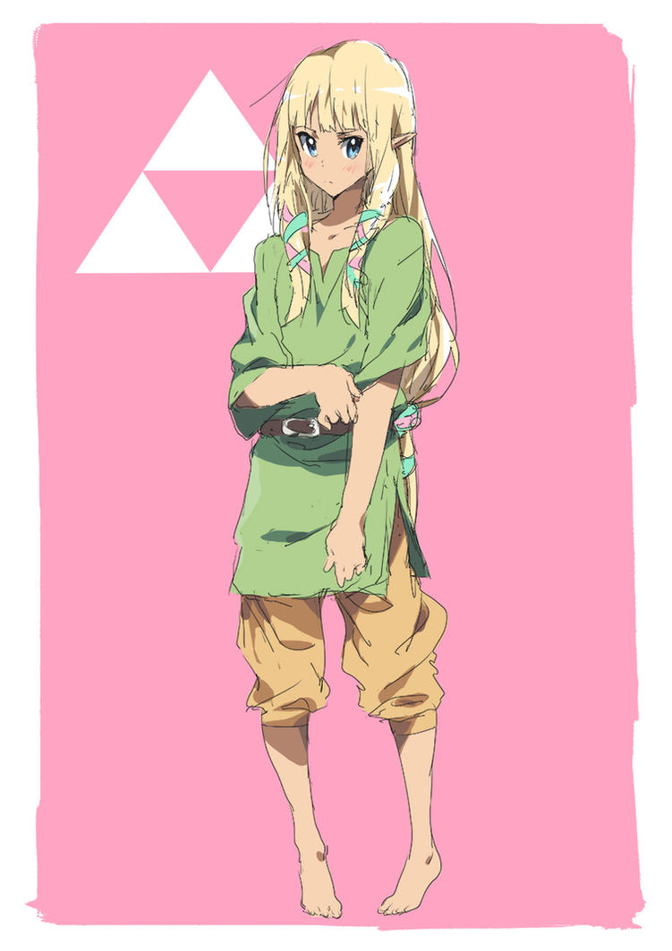 Day 19 | Zelda in Link's Clothes by moxie2D