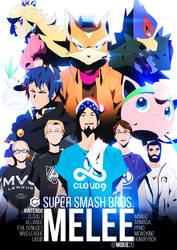 THE FIVE GODS | Super Smash Bros. Melee by moxie2D