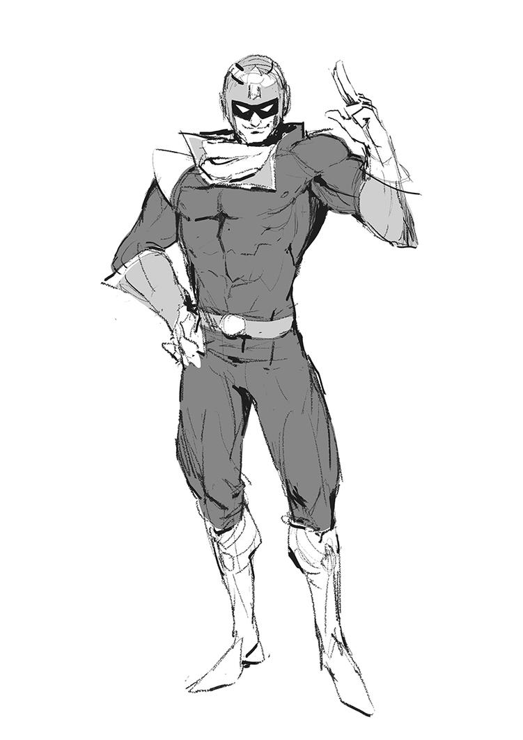 Captain Falcon Sketch by moxie2D
