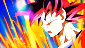 Dragon Ball Super Sunday - Super Saiyan God Goku by moxie2D