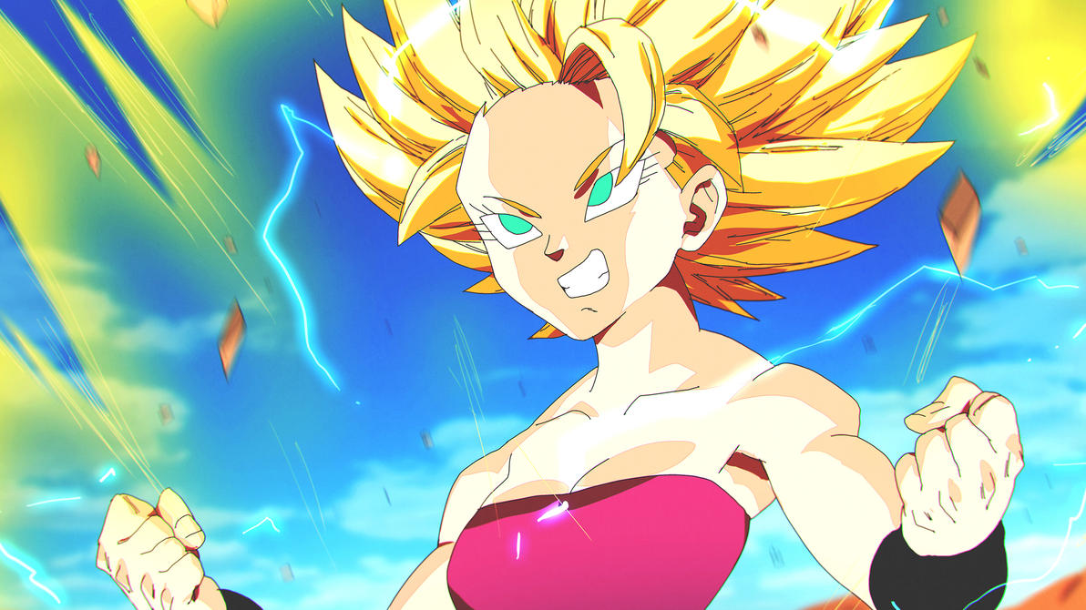 SSj2 Caulifla | Dragon Ball Super by moxie2D