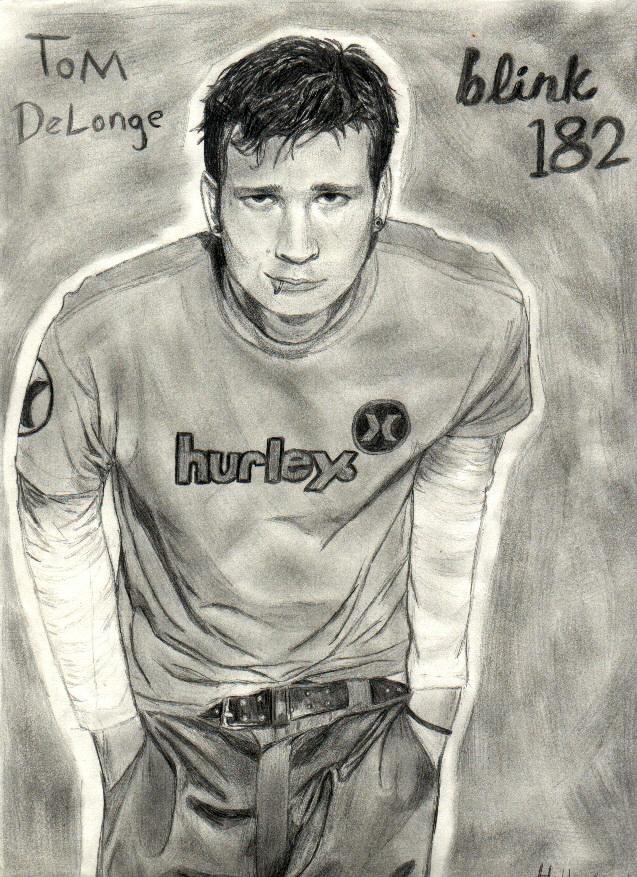 Tom Delonge from Blink 182 by ThunderhillPaints
