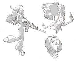 Sharon Carter by ClementSauve
