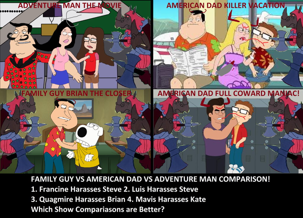 Family Guy And American Dad Comparison So-Bad-It's...