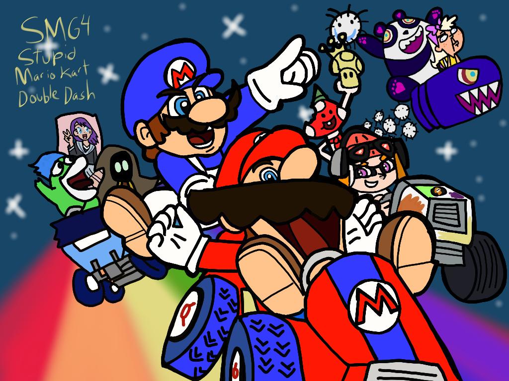 Smg4 Stupid Mario Kart Double Dash By Ultrasponge On Deviantart