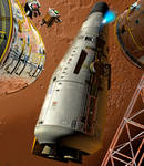 Mars Shuttlecraft Departing