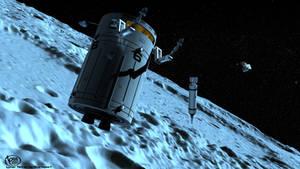 Lunar Orbit Ops by Earthlight