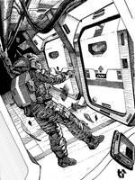 Weightless Corridor by Drell-7