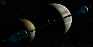 Among the Moons of Jupiter by Drell-7