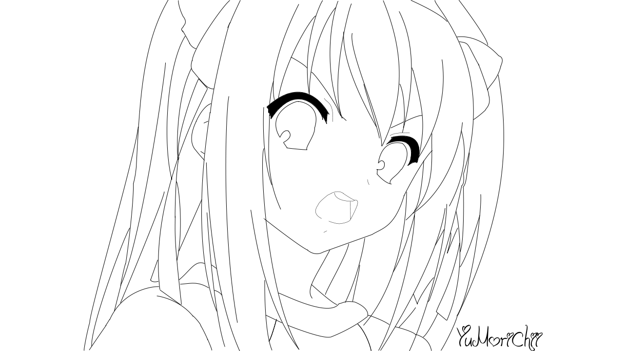 Line Art Grade : Line art th grade haruhi by yumorichii on deviantart
