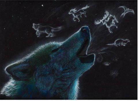 Spirit wolf by heylorlass