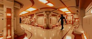 Starship Corridor by DanBrownCGI
