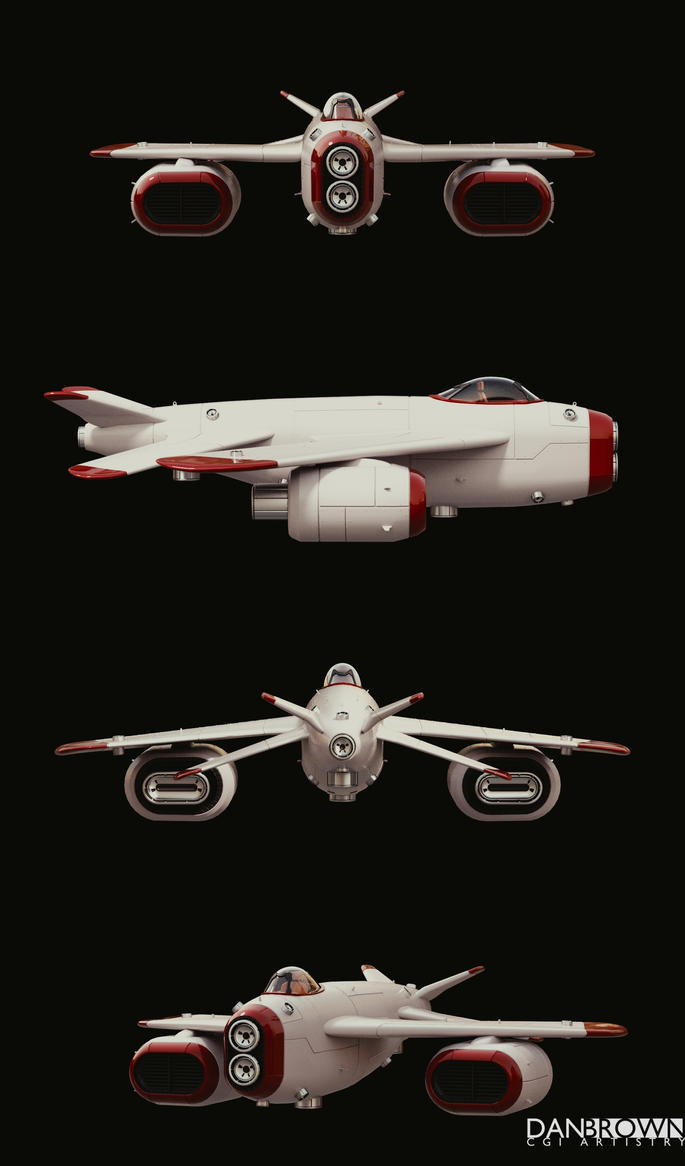 Retro Space Jet by DanBrownCGI