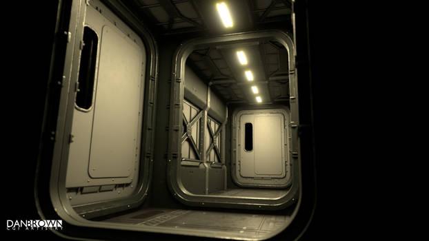 Space Freighter Corridor WIP 1
