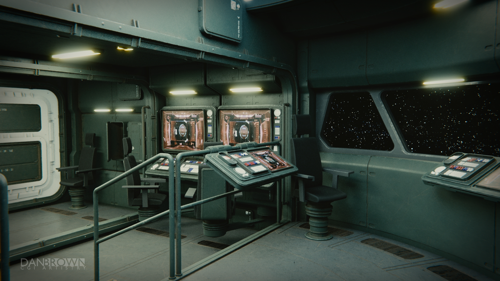 Small Starship Command Deck 2 by DanBrownCGI