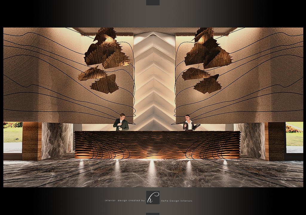 Luxury hotel lobby by hayriyepinar on deviantart for Art hotel design
