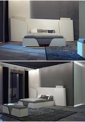 bedroom front view