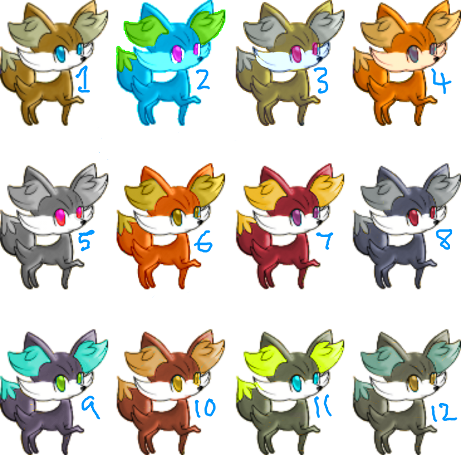 Fennekin Adoptables .::OPEN::. (Not an auction) by StarryAdopts
