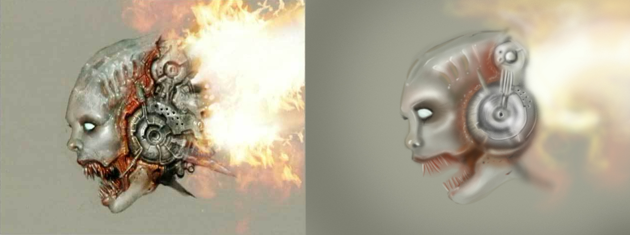 Lost Soul Doom Deviantart: Painting: Doom 3 Lost Soul By Denizen-v1 On DeviantArt