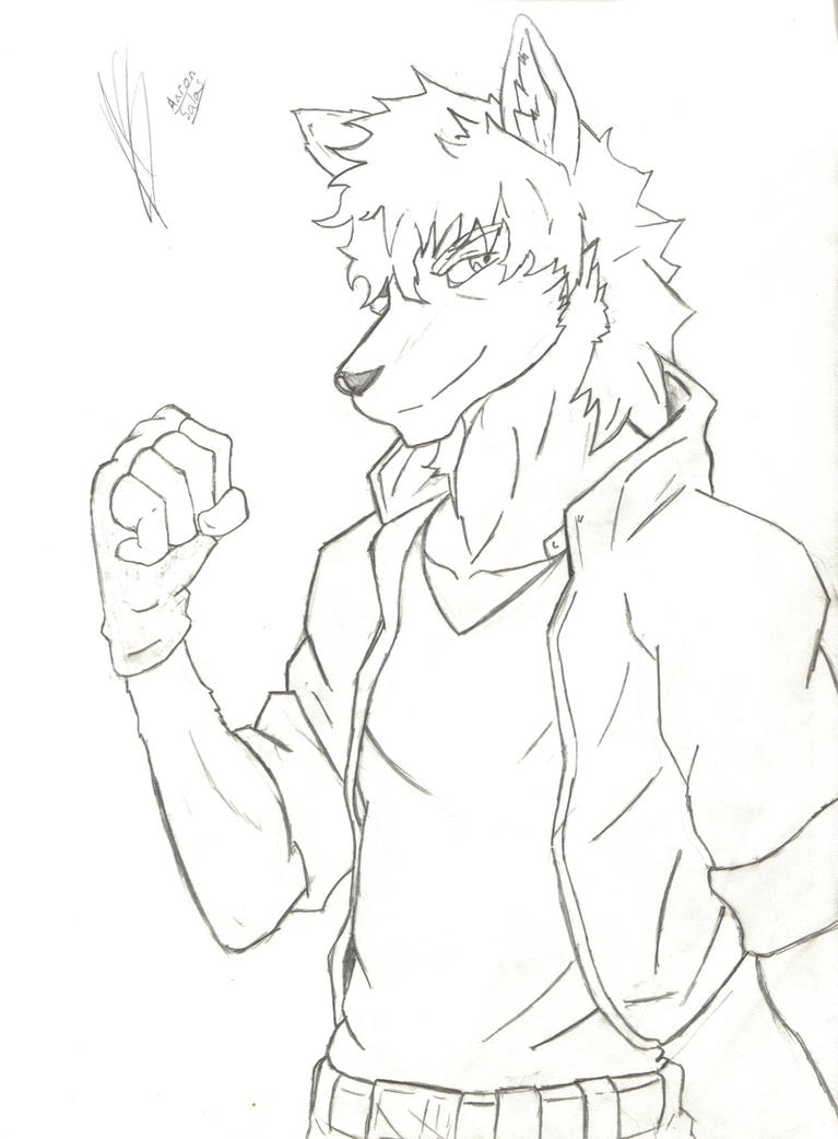 Lineart Wolf Tattoo : Top anthro wolf lineart images for pinterest tattoos