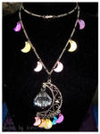 Rainbow Crescent Moon Necklace