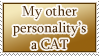 Other Personality is a Cat STAMP by kuroitenshi13