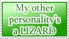 Other Personality is a Lizard STAMP by kuroitenshi13