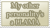 Other Personality is a Llama STAMP by kuroitenshi13