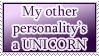 Other Personality is a Unicorn STAMP by kuroitenshi13