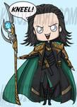 Chibi Loki says KNEEL