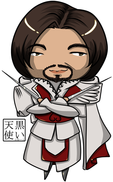 Chibi Ezio Comm by kuroitenshi13