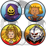 He-Man and She-Ra Buttons