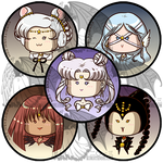 Sailormoon Buttons Q Serenity and Animates