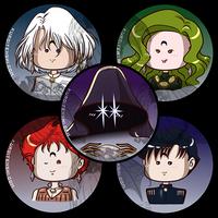 Sailormoon Buttons R Villains by kuroitenshi13