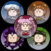 Sailormoon Buttons R Villains 2 by kuroitenshi13