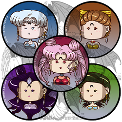 Sailormoon Buttons R Villains 2