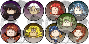 Sailormoon Buttons S Villains