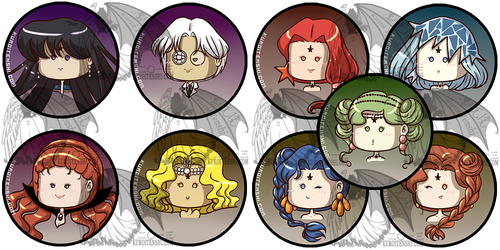 Sailormoon Buttons S Villains