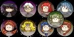 Sailormoon Buttons S Villains by kuroitenshi13