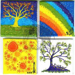 20150406 Mini Canvas Pieces
